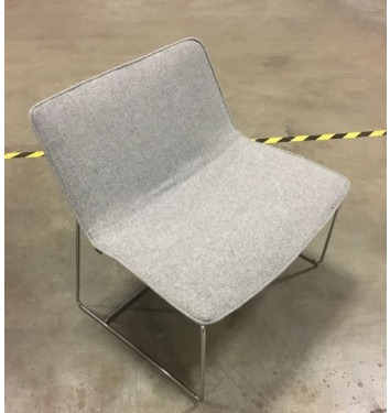 Grey loungefauteuil (Showroommodel)